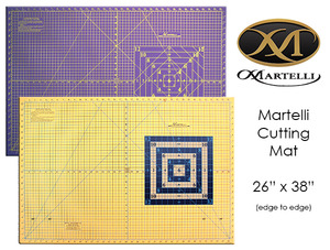 "Martelli MCM-26x38"" Large Heavy Duty Double Sided Rotary Cutting Mat, Gridded, Self Healing, Heat Tolerant"