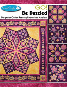 Sarah Vedeler 56/2427 49 Designs GO! Be Dazzled Quilt Embroidery Designs CD, 12 Month Blocksnohtin