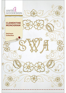 Anita Goodesign 255AGHD Clemintine Monogram Alphabet Embroidery Designs CD