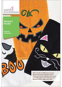 Anita Goodesign PROJ71 Spooky Faces Multi-format Embroidery Design CD