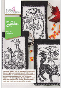 Anita Goodesign PROJ72 Vintage Halloween Bags Multi-format Embroidery Design CD