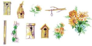 Balboa Threadworks 64P Bird Houses & Garden 1 4x4 Embroidery Disks
