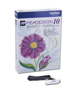 Brother SAVRPED10 PEDesign 10 Embroidery Software Upgrade Only v5.0-9.0