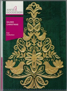 Anita Goodesign 260AGHD Gilded Christmas Full Collection Multi-format Embroidery Design CD