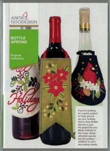 Anita Goodesign PROJ73 Bottle Aprons Projects Collection Multi-format Embroidery Design CD