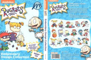 Brother Nickelodeon SANICKRR Rug Rats .pes Embroidery Designs CD