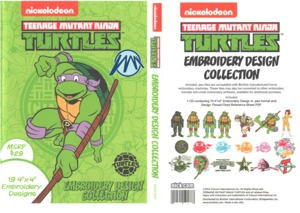 Brother Nickelodeon SANICKNT Ninja Turtles .pes Embroidery Design CD