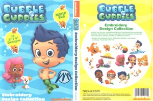 Brother Nickelodeon SANICKBG Bubble Guppies .pes Embroidery Design CD