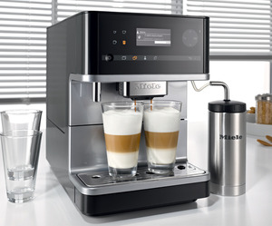 Miele, CM6310, Countertop, Espresso, Cappuccino, Coffee, Whole Bean, Coffee Machine, Cup Warmer, Miele CM5100 Countertop Coffee & Espresso Machine, Automatic, Bean-to-Cup System, Built-in Grinder, Milk Frother, Auto Steam, Cup Warmer - SWITZERLAND