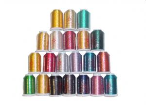 MonRex Metallic Thread Kit 009489-01 - 6 Gold, 2 Silver & 13 Colors x 1000 Meters Each