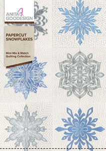 Anita Goodesign 183MAGHD Paper Cut Snowflakes Mini Mix & Match Quilting Collection Multiformat Embroidery Design CD
