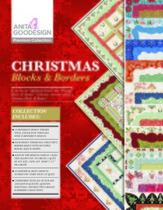 Anita Goodesign PRE06 Christmas Blocks & Borders Premium Collection Multiformat Embroidery Design CD