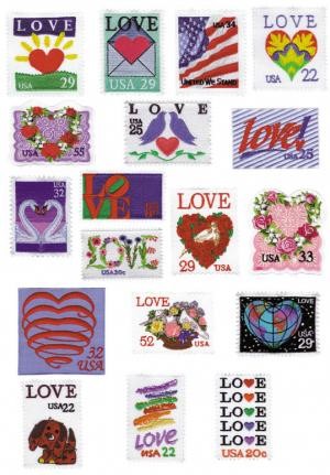 Amazing Designs Sensational Series Love Stamps Collection I Disk