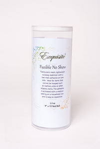 "Exquisite H560912K Fusible No Show Cutaway 1.5oz Embroidery Stabilizer Backing 9"" Inch by 12 Yards Roll in Stay Clean Tube"