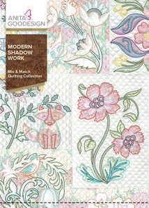 Anita Goodesign 266AGHD Modern Shadow Work Mix & Match Quilting Collection Multi-format Embroidery Design CD