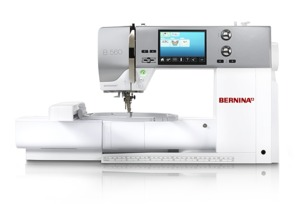 Bernina 560E 676-Stitch Sewing, 100 Embroidery, Quilting Machine BSR* Stitch Regulator, Slide On Table