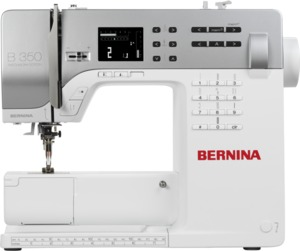 Bernina 350PE 115-Stitch Patchwork Edition, Quilting Sewing Machine LCD, 1 Touch Stitch Selection, 8 LEDs, Ext Table, DC Motor, Threader, Walking Foot