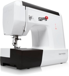 Bernette Sublime London 3, 21-Stitch Freearm Mechanical Sewing Machine, Buttonhole, LED Display, Threader, Front Load Metal Bobbin Case & Hook