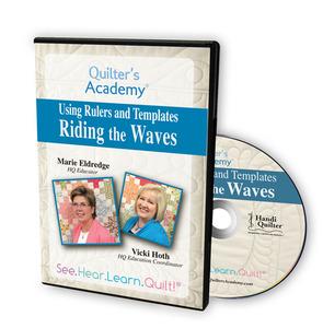Handi, Quilter, HL00428, Riding, Waves, Ruler, Templates, DVD, Serpentine, Design