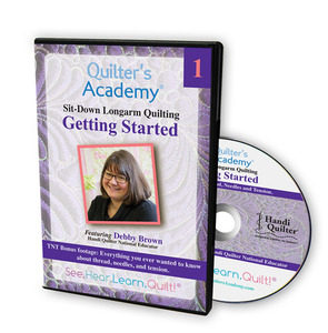 Handi Quilter Sit Down Longarm Quilting by Debby Brown Vol. 1 Getting Started DVD