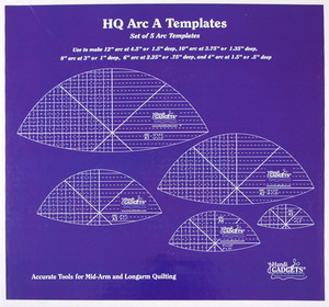 "Handi Quilter HG00614 Arc Ruler Set A, Template Sizes 4"" 6"" 8"" 10"" 12"" for Curves, Leaf Shapes"