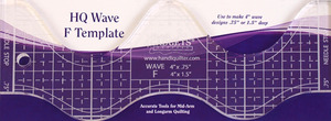 "Handi Quilter HG00613 4"" Wave Ruler F 1/4"" Thick .75"" & 1.5"" Deep Waves"
