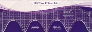 "Handi, Quilter, HG00612, Wave, Ruler, Template, E, Makes, Wave, Designs, 3"", &, 6"", Both, 1.75"", Deep"