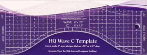 "Handi Quilter HG00610 Wave Ruler C 8"" for HQ16, 18, 24, 26 Machines"