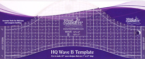 "Handi, Quilter, HG00609, 1-2"", Deep, Wave, Ruler, B, 10"", Long, 1/4"", Thick, for, Hopping, Foot"