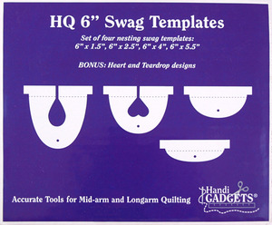 Handi Quilter HG00606 Swag Ruler Set of 4 Templates: 6x1 6x2.5 6x4 6x5.5 Inches Deep