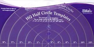 "Handi, Quilter, HG00416, 2-12"", Half, Circles, Ruler, Set, HQ, Longarms"