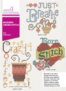Anita Goodesign 269AGHD Modern Cross Stitch Full Collection Multiformat Embroidery Design CD