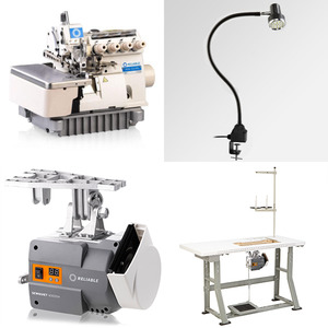 Reliable MSK-3314N-CF7-40H 2Needle 3-4Thread Serger Fully Submerged Table Stand and DC Servo Motor, Uber Light