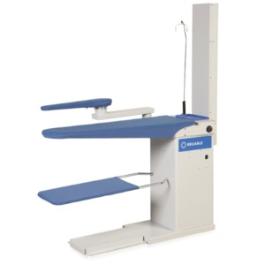 "Reliable 6200VB Package: 6000VB Heated Vacuum Ironing Board Pressing Table 52x25"", .8HP Motor, Sleeve Arm & Buck, Iron Rest, Tray (Replaces 624HA)"