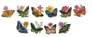 Baby Lock BLEC-C11 Butterflies and Flowers Embroidery Card