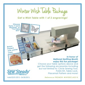 Sew Steady Sit Down Quilting Extension Table Portable Freearm or Flatbed Sewing Machines