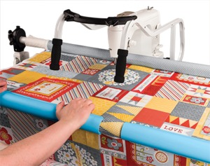 """Grace Start Right Four 24"""" Long Half Round Quilt Clips Holders Snap On to Rails Float Fabrics on Quilting Frames for 1.5in up to 2in Diameter Rails"""