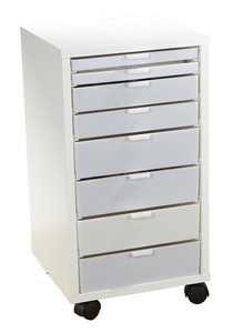 "Stash It Storage Cabinet Sewing Caddy, 8 Drawers, Stackable, 28x14x14"" RTA Ready to Assemble,  Notions, Hoops, Thread Trays"