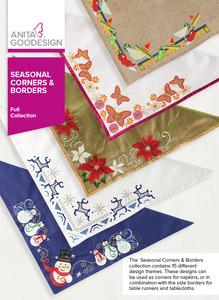 Anita Goodesign 271AGHD Seasonal Corners and Borders Multi-Format Embroidery Design CD