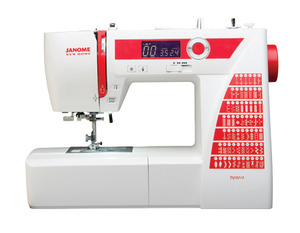 Janome DC2015 60 Stitch Computer Sewing Machine, 6-1Step Buttonholes +5Yr Extended Warranty Parts and Labor* , Janome, Decor, DC2014, +25/5Yr, Extended, Warranty, 50 Stitch, Computer, Sewing Machine,  1 tep BH, Memory, Needle Up, Down, Speed Limit, Threader, 1/4 inch, Walking Foot, Case