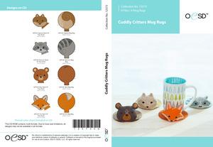 OESD 12573CD Cuddly Critters Mug Rugs CD
