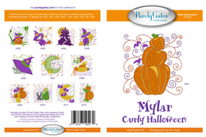 Purely Gates PG5479 Mylar Curly Halloween Embroidery Designs CD