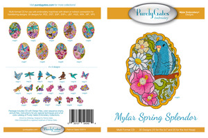 Purely Gates PG5424 Mylar Spring Splendor Embroidery Designs CD