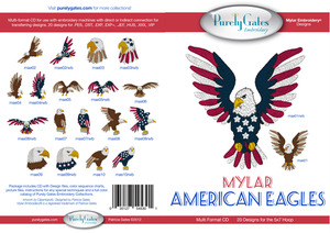 Purely Gates PG5301 Mylar American Eagles Embroidery Designs CD