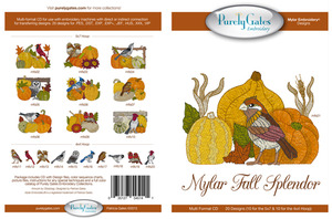 Purely Gates PG5141 Mylar Fall Splendor Embroidery Designs CD