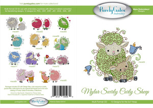 Purely Gates PG5080 Mylar Swirly Curly Sheep Embroidery Designs CD