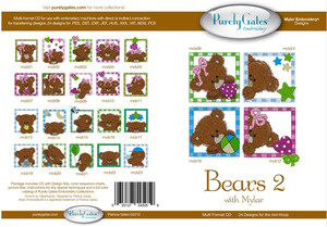 Purely Gates PG5059 Bears 2 with Mylar Embroidery Designs CD