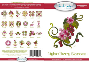 Purely Gates PG4892 Mylar Cherry Blossoms Embroidery Designs CD