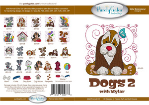 Purely Gates PG4878 Dogs 2 with Mylar Embroidery Designs CD