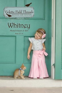 Violette Fields VFT010W Whitney Pleated Trousers, Skirt Sewing Pattern